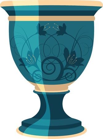 earthenware: maceta, floreros, ilustraci�n vectorial