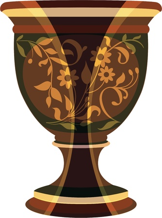 ornamentation: flowerpot, flower vase vector illustration
