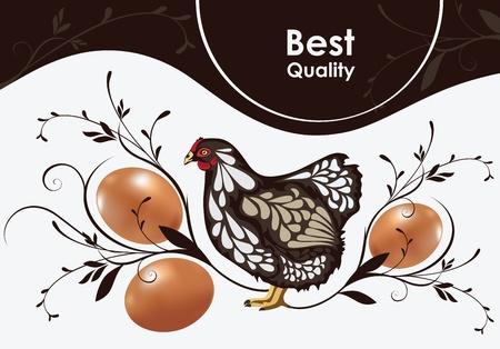 gallina con huevos: pollo y huevos