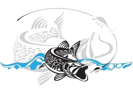 lure: pike, fishing lure
