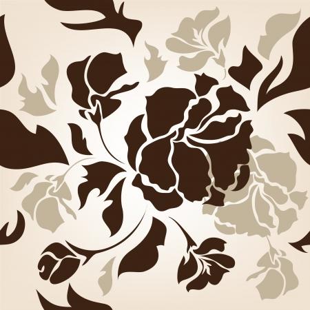 seamless  flower  background Stock Vector - 14399026