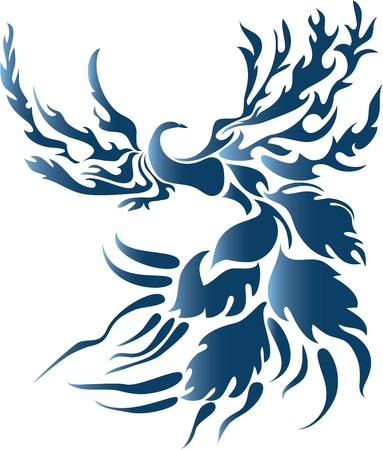 stylized fantasy bird Vector