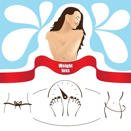 Weight loss, vector template Vector
