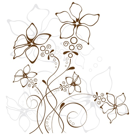 ornamentation: floral background