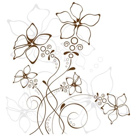 abstrakcje: kwiatów w tle
