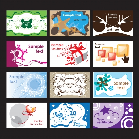 Set of business cards on different  topics Stock Vector - 14641474