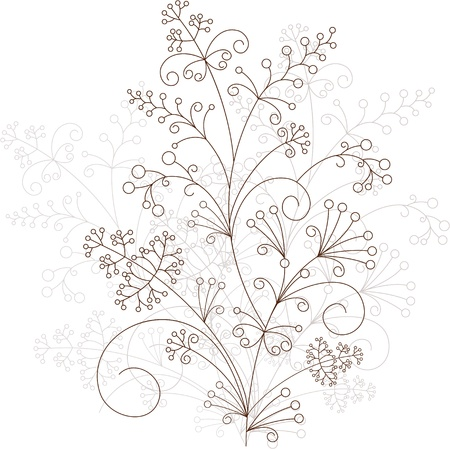 flower design, grassy ornament Stock Vector - 14805863