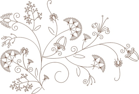 Floral  pattern, plant ornament Vector