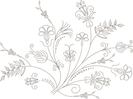 Vector flower design, floral ornament, plant pattern Vector