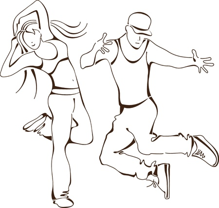 hip-hop dance, set icon people