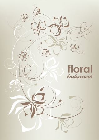 beauty birthday: Vintage floral background, vector illustration Illustration