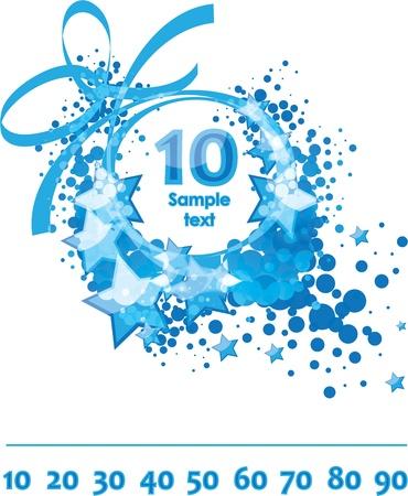 numero diez: Tarjeta de felicitaciones, plantilla felicitaci�n