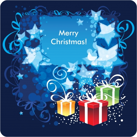Merry Christmas, greeting card  Vector