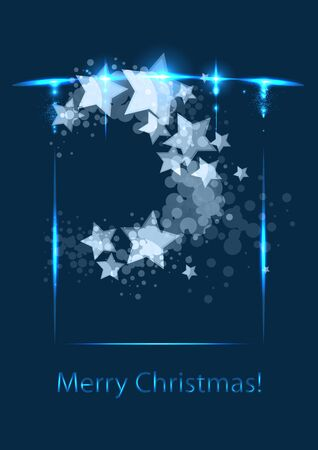 Christmas card, vector template Vector