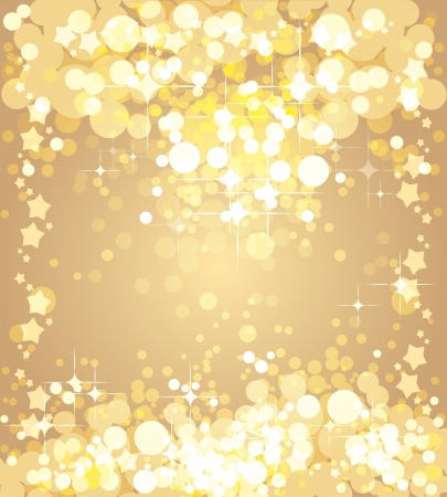 winter wonderland: Christmas gold background,  template
