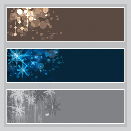 winter wonderland: set of Christmas banners