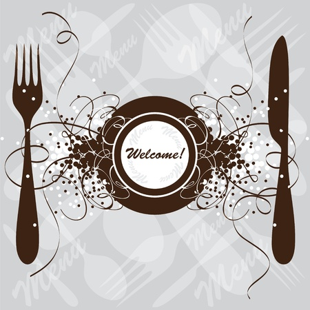 Restaurant menu design, vector template Vector
