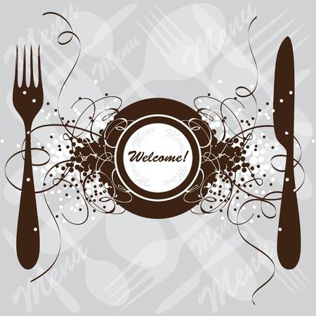 Restaurant menu design, vector template