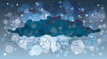 Abstract winter background, vector template Stock Vector - 16942785