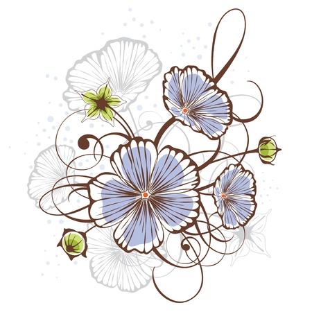 flax: Vintage floral design Illustration