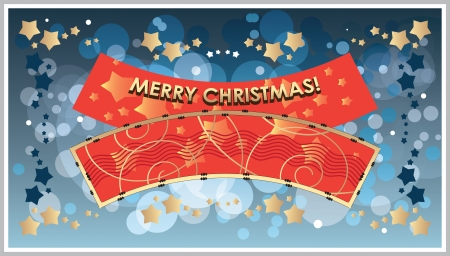 greetings Template Merry Christmas Stock Vector - 16980680