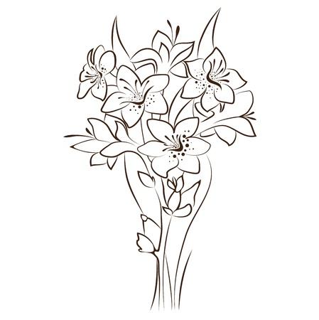 narcissus: vector floral design