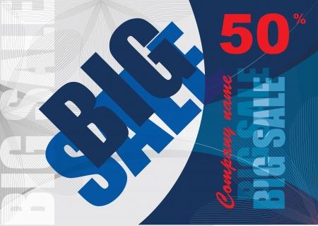 big sale, vector template background Illustration