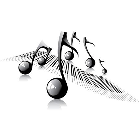pentagrama musical: Música de fondo Vectores
