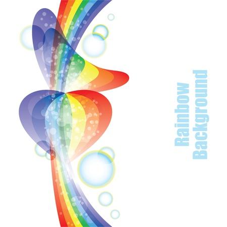 two hearts: rainbow background Illustration