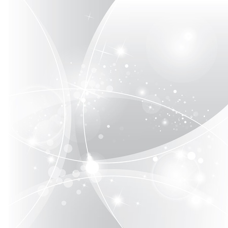 light emission: Silver abstract vector background