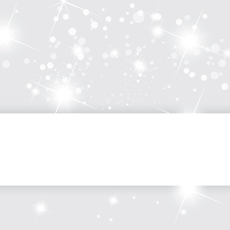 lighting effects: Silver abstract vector background, Christmas template