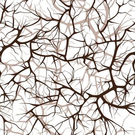 interweaving: seamless pattern, interlacing of branches Illustration