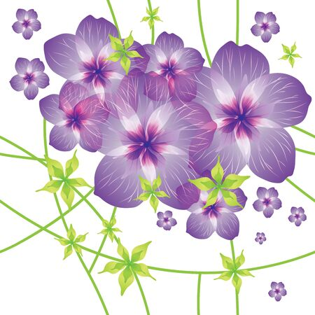 flax: seamless pattern with flowers
