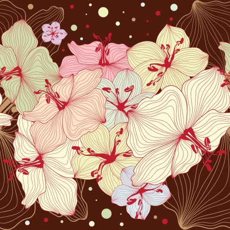 Seamless floral design background, texture with flowers, floral pattern Stock Vector - 20103678