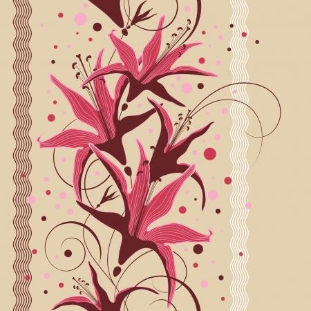Seamless floral design, floral pattern illustration