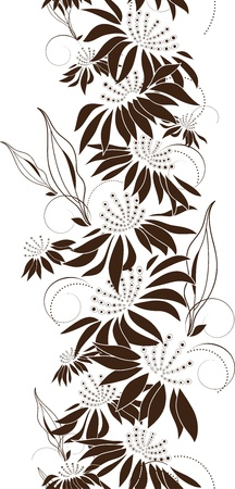 Seamless floral design, bunch of flowers, vector illustration Vector