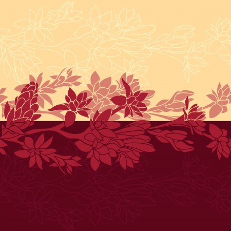 bordo: seamless floral background, vector illustration texture
