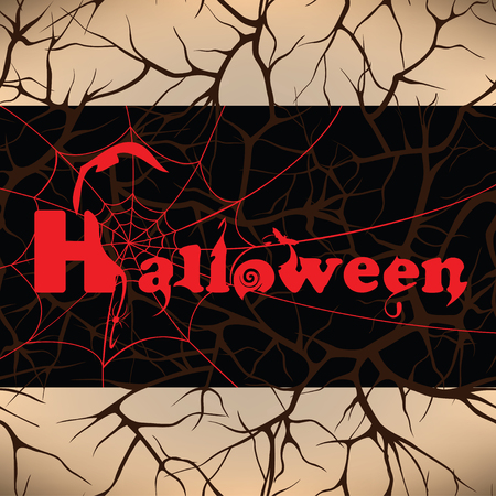 Halloween design background, vector illustration Vector