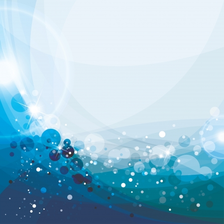 Abstract blue background, vector illustration, aqua template Çizim
