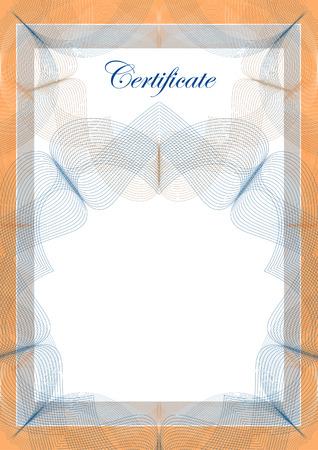 Document template, vector illustration