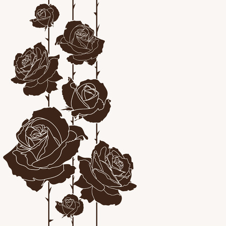 bouquet of roses, seamless background, floral design Vector