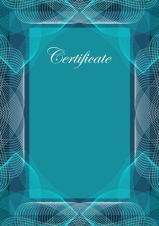 Certificate, vector background, template design