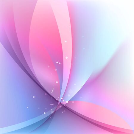 Abstract light background, pink blurred background with wavy elements