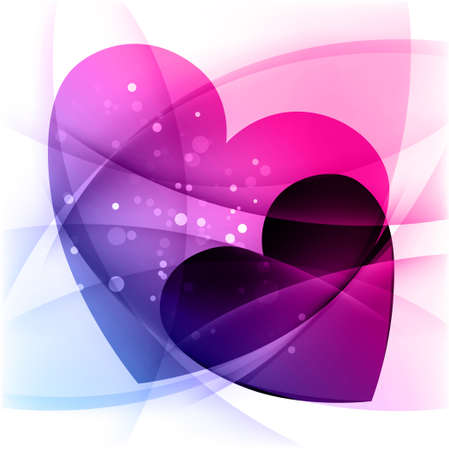 two hearts: Background with two hearts, St.Valentine holiday