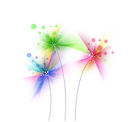 Abstract Grunge Blume, Blumenkunstentwurf