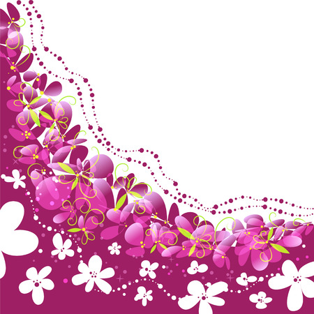 greeting card background: floral background, pattern with flowers, greeting card