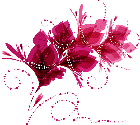 greeting card background: Floral background, stylized flowers, pattern with flowers, greeting card Illustration