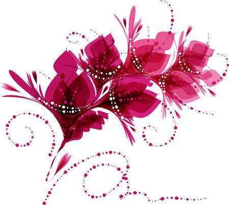 Sfondo floreale, fiori stilizzati, disegno con fiori, cartolina d'auguri Archivio Fotografico - 55994824