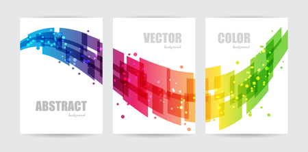Abstract technology, set business template, design wave, background Çizim