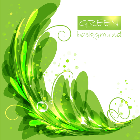 Green leaves, eco brochure, oval frame